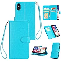 Shinyzone iPhone XS 5.8 Zoll Brieftasche Hülle mit 9 Kartenfach,Luxus Premium PU Standfunktion mit Handschlaufe... preisvergleich bei billige-tabletten.eu