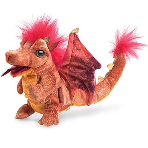 Folkmanis 3054Fire Dragon Plüsch Spielzeug