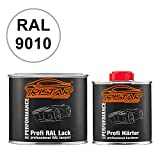 TRISTARcolor RAL 9010 Reinweiss 2K Autolack glänzend 0,75 Liter / 750 ml Dose inkl. Härter