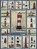 Kunstdruck/Poster: Ole West Leuchttürme - Hochwertiger Druck, Bild, Kunstposter, 60x80 cm