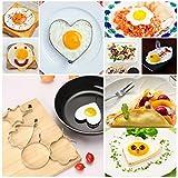 Chshe 5 Stücke Edelstahl Spiegelei Former Pfannkuchenform Form Küche Kochen Werkzeuge