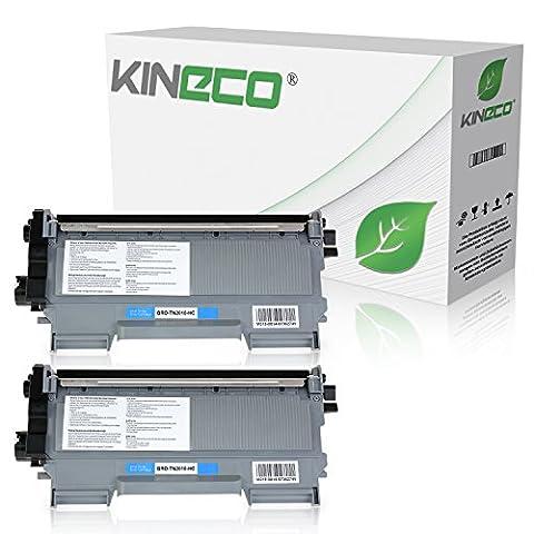 2 Toner kompatibel zu Brother TN2010 TN-2010 für Brother DCP-7055 W, DCP-7057, HL-2130 R, HL-2132 R, HL-2135 W - Schwarz je 3.000