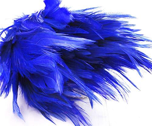 Machen Kostüm Hahn - 30pcs Royal Dunkel Blau Gefärbte Hahn Federn, Anhänger, Ohrringe Schmuck, Modewaren Sattel Kostüm Dreamcatcher 11-13cm