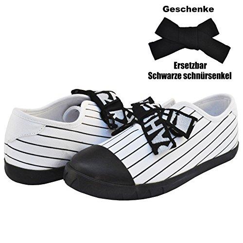 MINIRAH! Damen Freizeit Schuhe Sneakers Turnschuhe Leichte Schuhe Klassische Low Top (38, Weiß)