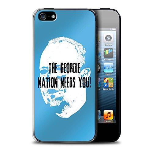 Officiel Newcastle United FC Coque / Etui pour Apple iPhone 5/5S / Pack 8pcs Design / NUFC Rafa Benítez Collection Nation Geordie