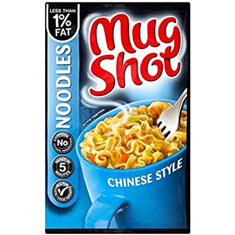 Mug Shot Fideos De Estilo Chino (45g) (Paquete de 6)