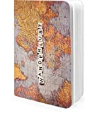 #9: DailyObjects Wanderlust Map A6 Notebook Plain