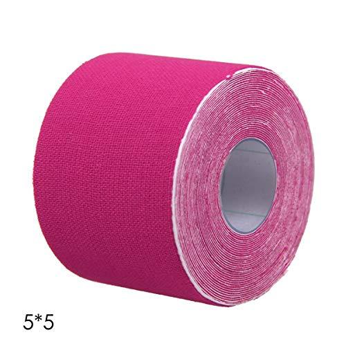 Jinxuny Sport Kinesiologie Tape Uncut Roll Wasserdichte Physio Muscle Strain Injury Unterstützung Streifen KT Band Sport 5/2,5 cm * 5 mt (Color : Pink, Size : 2.5cm*5m) -