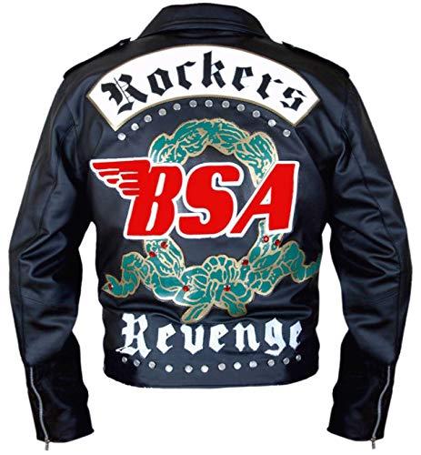 Western Fashions BSA George Michael Faith Rockers Revenge Schwarze Lederjacke-XL (Leder George Jacke)