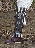 Wikinger Beinschiene, 2mm Stahl aus gebogenen Stahlstreifen LARP Mittelalter Rüstung WIkinger
