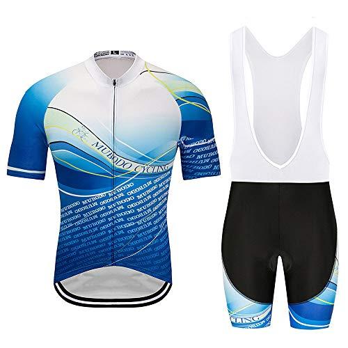 Radsport-Anzüge für Herren Fahrrad-Club Cycling Team Bekleidung Jersey Shirts Kurze Hosen Set Sportbekleidung Atmungsaktiv Quick-Dry Kurzarm Radsport