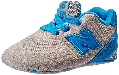 New Balance unisex-baby 574 KL574V1C Kinderschuhe, 17 EUR - Width W, Grey/Blue (Kinder-blue Shoes Suede)