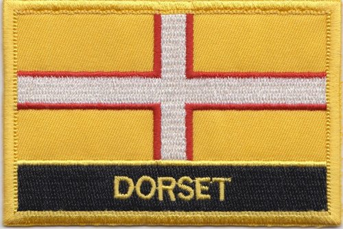 Dorset County Flagge Aufbügler Aufnäher bestickt Blazer