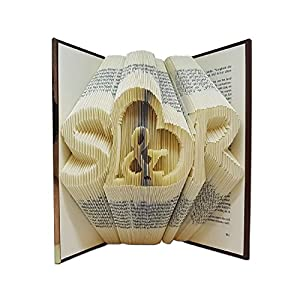 Gefaltetes Buch geschenk hochzeit - Custom initialen - Hochzeitsgeschenke für brautpaar - Hochzeits gästebuch