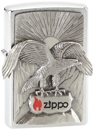 Zippo Feuerzeug 2002543 Eagle Benzinfeuerzeug, Messing