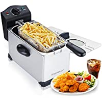 Aigostar Ushas 30JPN - Deep Fryer 2200 Watts, 3L, with Viewing Window, Temperature Control, Removable Oil Bowl, 304 Food Grade Stainless Steel, Exclusive Design.