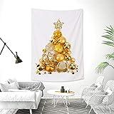 OTIAN Wandteppich Mandala 3D Weihnachtsbaum Wandteppich Weihnachtsfeier Dekoration Wandbehang Tapisserie Bettdecke Tischdecke Weihnachten Tapisserie 145x215CM