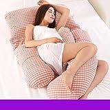 Full Body Schwangerschaft Kissen - U-förmige Mutterschaft Unterstützung Kissen Kissen und Kissen für schwangere Frauen schlafen Seite liegen, entlasten späten Schwangerschaft Schmerzen ( Farbe : A5 )