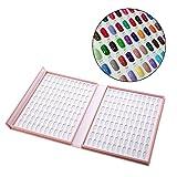 Muestrario de Uñas para Pintar, Anself Expositor Uñas para Muestra Color de Esmalte Gel de Uñas 120 Colores rosa d'Anself