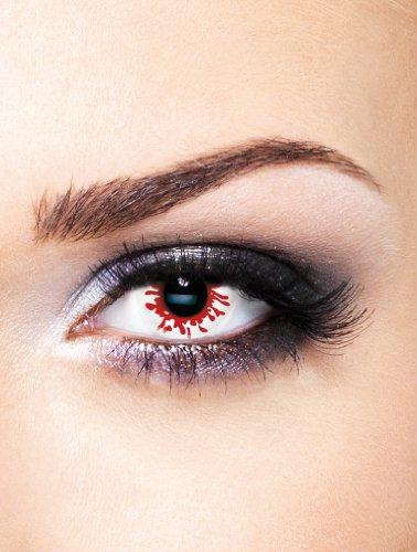 Edit farbige rote weiße Blutverlaufen Kontaktlinsen ohne Stärkefür Karneval und (Verrückte Halloween Kontakte)