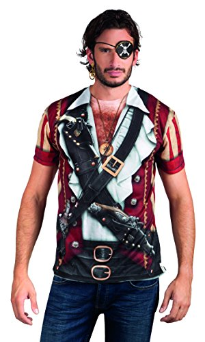 Boland 84222 - Fotorealistisches Shirt Pirate, Kostüme für - Papagei Für Piraten Kostüm