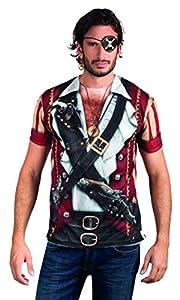 Boland 84222 - Camisa Pirata fotorrealista, disfraces para adultos