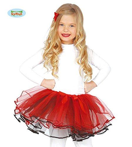 557 - Tutu mit roter Masche, Kinder (Ballett Tänzerin Halloween Kostüm)
