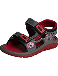 Campus Sport BRS-02 Grey/RED Kids Sandals.
