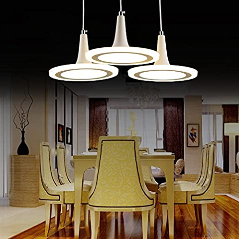 The restaurant is modern chandelier hanging chandeliers _ restaurant is simple and stylish led single head round creative, white with blue, six head-color arrestor