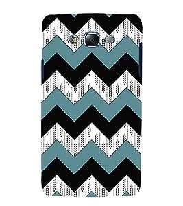 3D Zig Zag Pattern 3D Hard Polycarbonate Designer Back Case Cover for Samsung Galaxy J7 (2015) :: Samsung Galaxy J7 J700F (Old Version)