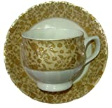 Smart Dinning Tableware Serving Gold Tea cups Coffee cups Set of 6 Cups and Saucers