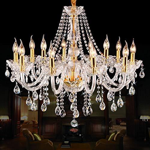 Kronleuchter K 9 Kerze Kronleuchter aus Kristall Gold Wohnzimmer Beleuchtung Schlafzimmer Restaurant Kronleuchter Jane European Candle Kronleuchter (Farbe: 10-Kopf) -