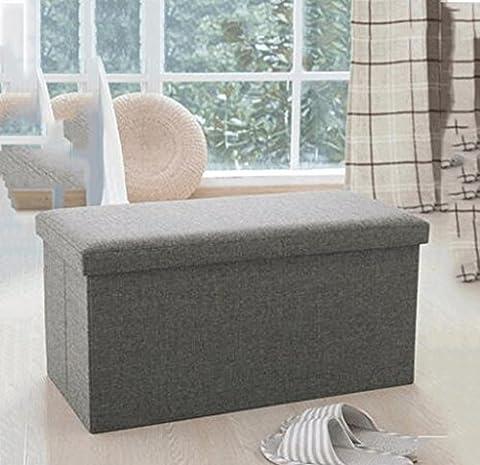 fzw Leder für Schuh Hocker Lagerung Stuhl Speicher Hocker große Finishing-Box kann gefaltet werden Sofa Hocker kann Menschen sitzen ( Farbe : Hellbraun )