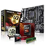 PC Aufrüstkit AMD, FX-8350 8x4.0 GHz, 16GB DDR3, Radeon HD3000-1GB, Mainboard Bundle, Tuning Kit, fertig montiert, Spiele Office zusammengestellt in Deutschland Desktop Rechner