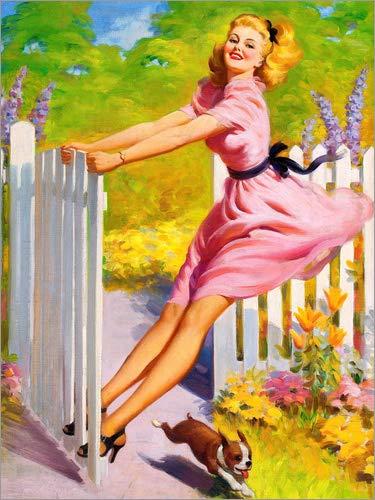 Posterlounge Leinwandbild 90 x 120 cm: Spielzeit von Art Frahm - fertiges Wandbild, Bild auf Keilrahmen, Fertigbild auf echter Leinwand, Leinwanddruck (Frahm Art)