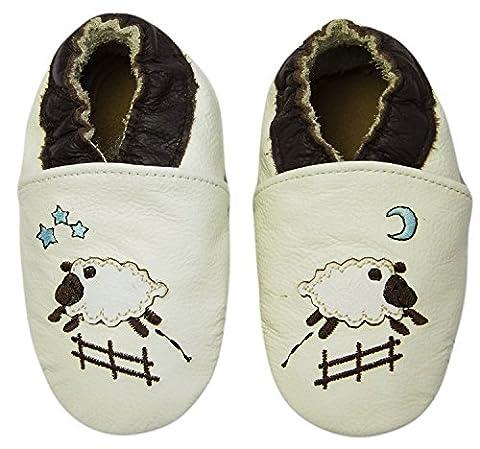 Rose & Chocolat Chaussures Bébé Goodnight Sheep beige Taille 28/29 cm 3-4 ans