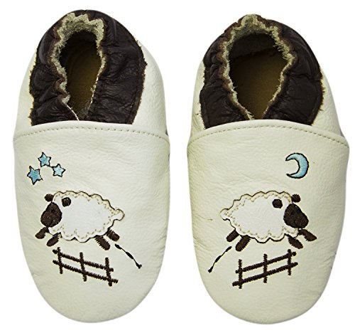 Rose & Chocolat Chaussures Bébé Goodnight Sheep beige