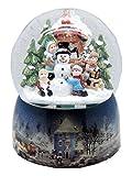 20064 Mega-Schneekugel Nostalgische Winterlandschaft Porzellansockel 150mm Diameter Snowmotion und Musik-Spieluhr