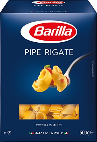 Barilla Pasta Nudeln Pipe Rigate n. 91, 15er Pack (15 x 500 g)