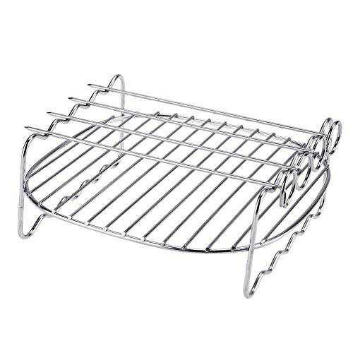 Ersatz-grill-racks (Dioche Doppelschicht Backen Grill, Ersatz BBQ Rack Doppelschicht Spieße Backblech Für Philips Air Fryer)