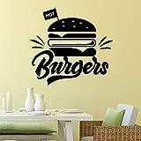 Tianpengyuanshuai Delizioso Negozio di Adesivi murali Hamburger Hamburger Negozio di Moda Applique Cucina Camera Wall Sticker Decorazione 28X29cm