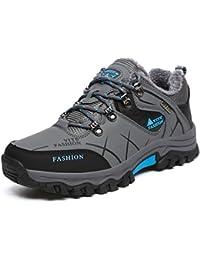Onenice Chaussures de randonnée homme femme Cuir respirant Marche extérieur Trail escalade Sneaker pour le camping Athletic Running Chaussures de sport de voyage, Homme, G-27 Grey