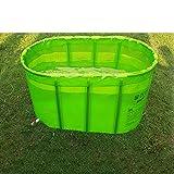 Klapp Badewanne Deluxe Doppel-nicht-aufblasbare Falt-Badewanne/Falt-Badewanne/Badewanne für Erwachsene/Badewannen Faltbare Badewanne (Farbe : Grün)