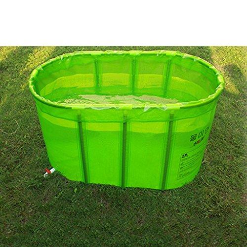 Klapp Badewanne Deluxe Doppel-nicht-aufblasbare Falt-Badewanne/Falt-Badewanne/Badewanne für Erwachsene/Badewannen Faltbare Badewanne (Farbe : Grün) (Mens Aufblasbare)