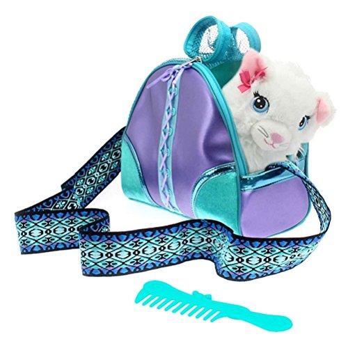COLORBABY Gatito y transportín de asa Violeta Sparkle Girlz, (Color Baby 85149)