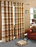 Homescapes handgewobener Vorhang Morocco im 2er Set Ösenvorhang 170 x 230 cm (Breite x Länge) Dekoschal in Streifen-Optik aus 100% reiner Baumwolle in beige