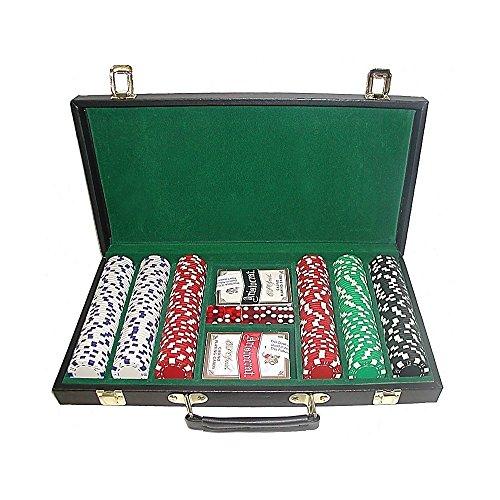 Trademark Poker 10-1090-300d-W 300 Dice-Striped Chips in Case, 11.5gm