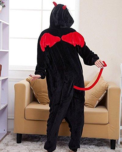 Imagen de abyed kigurumi pijamas unisexo adulto traje disfraz adulto animal pyjamas,demonio adulto talla m para altura 159 166cm alternativa