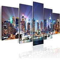 200x100 !!! Formato Grande + Impresion en calidad fotografica + 5 partes + New York + cuadro 9020099 + 200x100 cm +++ GRAN VARIEDAD DE CUADROS Y IMPRESOS ARTÍSTICOS EN NUESTRA TIENDA VIRTUAL +++