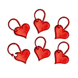 addi 407-2 Love Maschenmarkierer, Kunststoff, rot, 1 x 1 x 1 cm